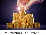 a large amount of coins  money | Shutterstock . vector #542796442