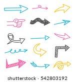 set of arrow doodle design... | Shutterstock .eps vector #542803192
