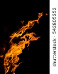 fire flames on black background | Shutterstock . vector #542805352