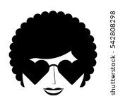 woman character afro style... | Shutterstock .eps vector #542808298