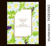romantic invitation. wedding ... | Shutterstock . vector #542810062