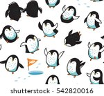 seamless pattern with funny... | Shutterstock .eps vector #542820016