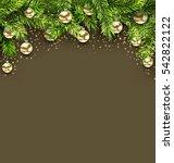 illustration christmas holiday... | Shutterstock . vector #542822122
