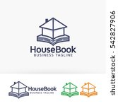 house book  publisher  library  ... | Shutterstock .eps vector #542827906