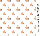 thumbs up pattern. cartoon... | Shutterstock .eps vector #542831518
