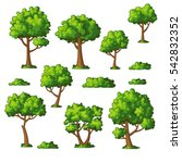 illustration of some trees and... | Shutterstock .eps vector #542832352