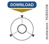 navigation icon vector flat...