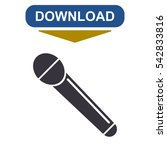 microphone icon vector flat...
