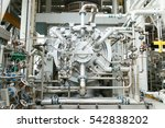 machine turbine in oil and gas... | Shutterstock . vector #542838202
