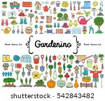 vector set with hand drawn... | Shutterstock .eps vector #542843482