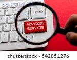 advisory services word written... | Shutterstock . vector #542851276