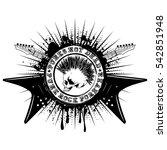 vector illustration stamp skull ... | Shutterstock .eps vector #542851948