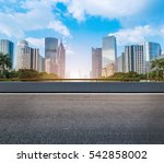 modern urban buildings and roads | Shutterstock . vector #542858002