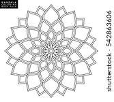 flower mandala. vintage... | Shutterstock .eps vector #542863606