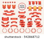 vector collection of decorative ... | Shutterstock .eps vector #542868712