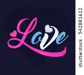 Colorful Text Love For Happy...