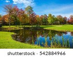 park of fantastic beauty. golf ... | Shutterstock . vector #542884966
