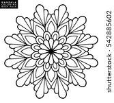 flower mandala. vintage... | Shutterstock .eps vector #542885602