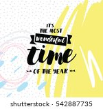 it's the most wonderful time of ...   Shutterstock .eps vector #542887735