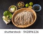 handmade noodles   soba ... | Shutterstock . vector #542896126