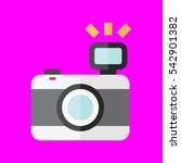 photo camera icon flat disign