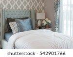 luxury bedroom with classic... | Shutterstock . vector #542901766