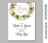 anemone wedding invitation... | Shutterstock .eps vector #542902588
