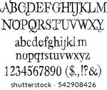 free fairy font   alphabet ...   Shutterstock .eps vector #542908426