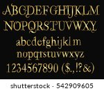 golden  fairy tail  font  ... | Shutterstock .eps vector #542909605
