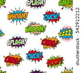 set of comic text  pop art... | Shutterstock .eps vector #542912212