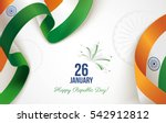26 january. indian republic day ... | Shutterstock .eps vector #542912812
