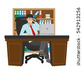 businessman working at office... | Shutterstock .eps vector #542913256