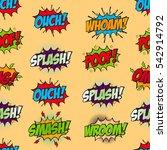set of comic text  pop art...   Shutterstock .eps vector #542914792