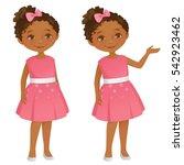 little girl | Shutterstock .eps vector #542923462