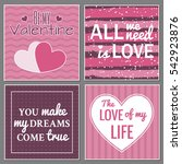 vector set of greeting cards... | Shutterstock .eps vector #542923876