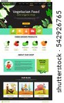 best organic farm eco food shop ... | Shutterstock .eps vector #542926765