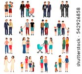 flat set of male and female... | Shutterstock .eps vector #542926858