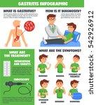 illnesses gastritis infographic ... | Shutterstock .eps vector #542926912