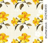 seamless floral pattern with... | Shutterstock .eps vector #542930455