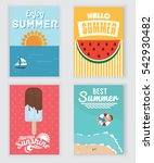 summer  holiday  vacation... | Shutterstock .eps vector #542930482