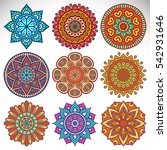 ornament beautiful card with...   Shutterstock . vector #542931646