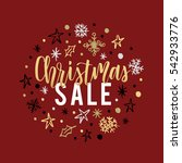 christmas sale card  lettering... | Shutterstock .eps vector #542933776