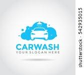 car wash logo template design.... | Shutterstock .eps vector #542935015