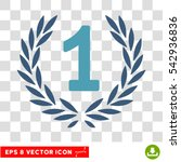 vector first laurel wreath eps... | Shutterstock .eps vector #542936836