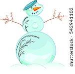 classic snowman | Shutterstock .eps vector #542941102