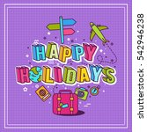 holidays typography background  | Shutterstock .eps vector #542946238