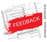 feedback word cloud  business... | Shutterstock .eps vector #542947132