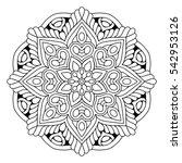 flower mandalas. vintage...   Shutterstock .eps vector #542953126