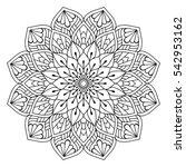 flower mandalas. vintage... | Shutterstock .eps vector #542953162