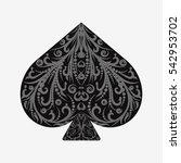 suit card spades. vintage... | Shutterstock .eps vector #542953702